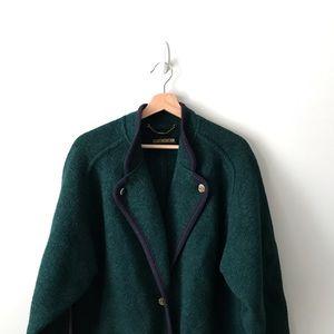 Geiger Wool Coat Blazer Jacket Green